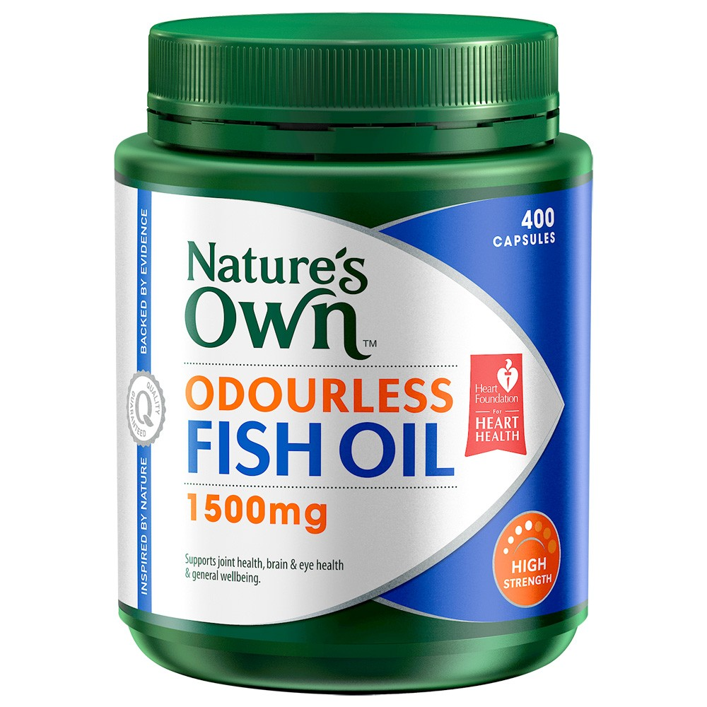 Nature 39 s own odourless fishoil 1500mg 400 capsules for Where does fish oil come from