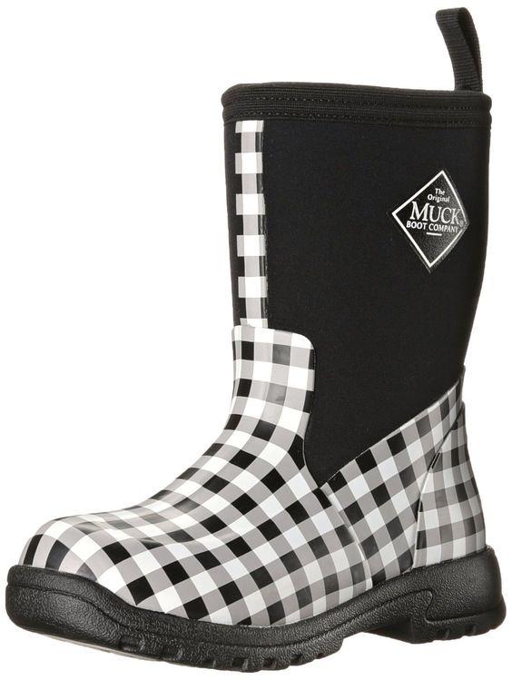 Muck Boots Kids Breezy Rainboot For Girl S Black Gingham