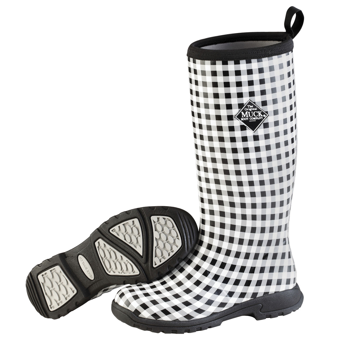 Muck Boots Breezy Tall Insulated Rain Boot for Ladies Women's - black Gingham