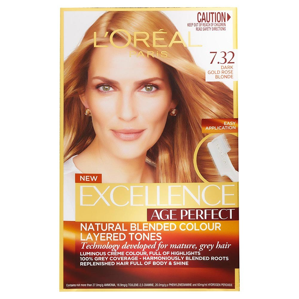 Loreal Excellence Age Perfect 732 Dark Gold Blonde