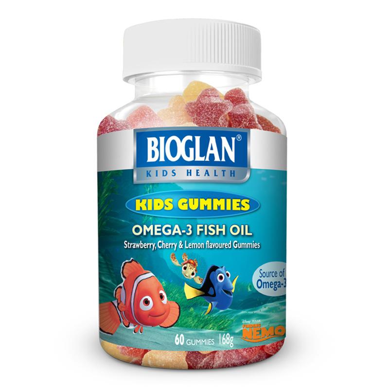 Bioglan kids gummies omega 3 nemo 60s ebay for Fish oil for children