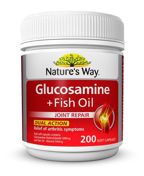Nature 39 s way glucosamine fish oil 200 caps ebay for Does fish oil help with joint pain
