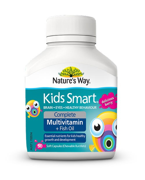 Nature 39 s way kids smart complete multivitamin fish oil for Chewable fish oil