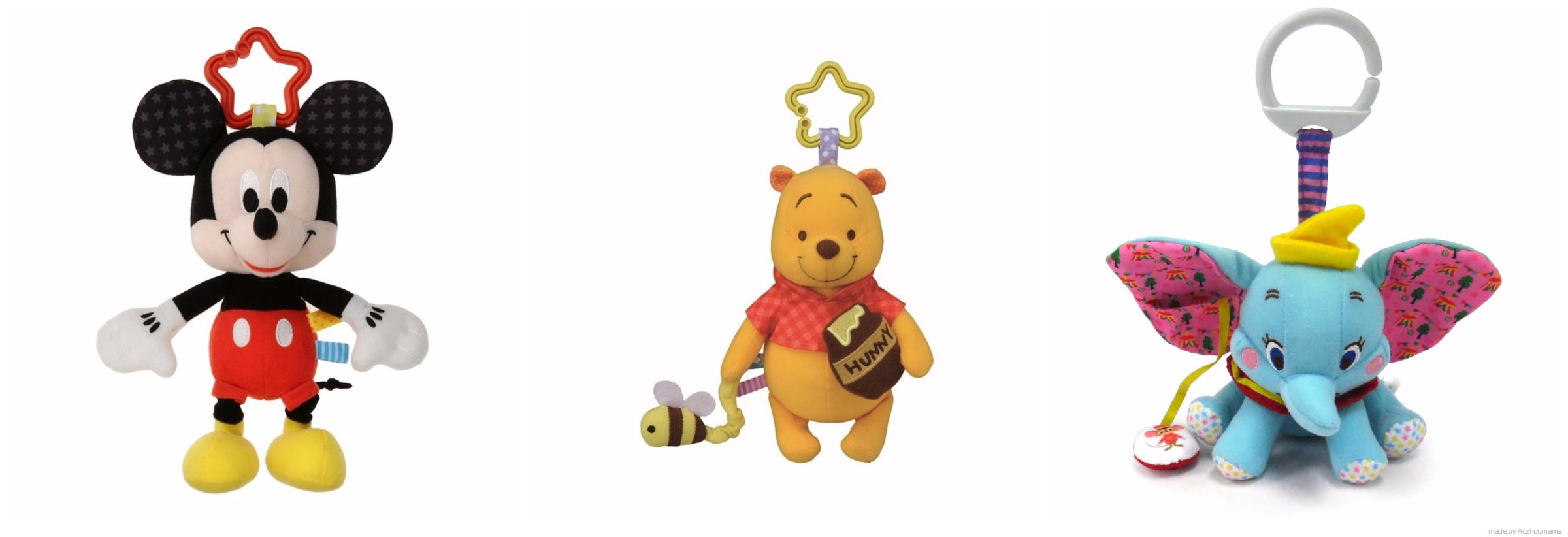Disney Nursery Plush Plush Pram Toy Multiple Frabric Textures Ebay