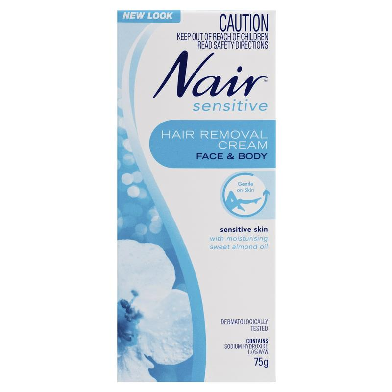 Nair Sensitive Cream Hair Remover 75g Formulated For Sensitive