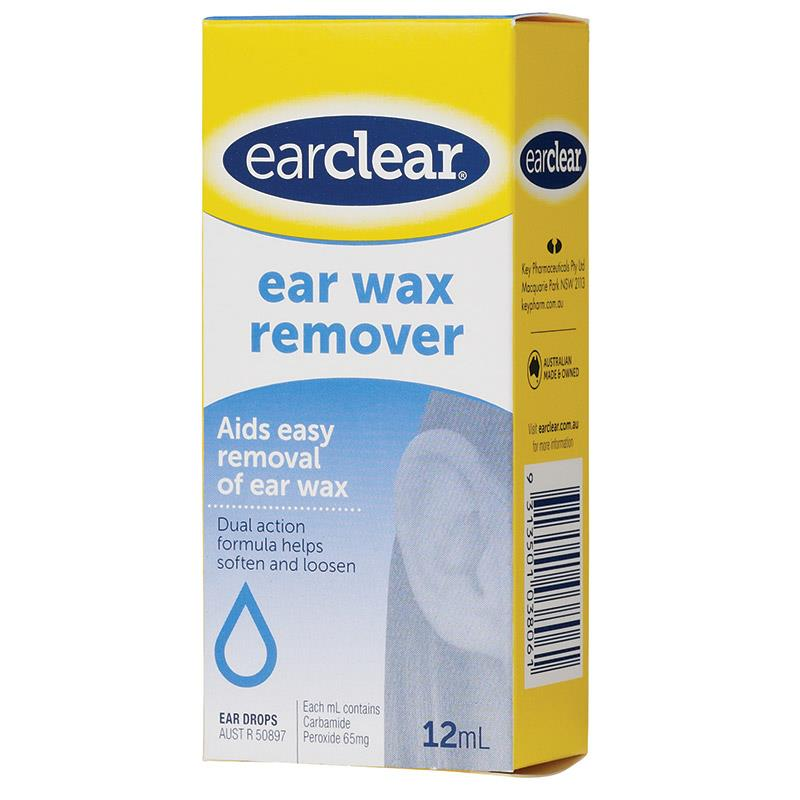 Ear Clear Wax Remover Drop 12Ml Aids Easy Removal Of Ear