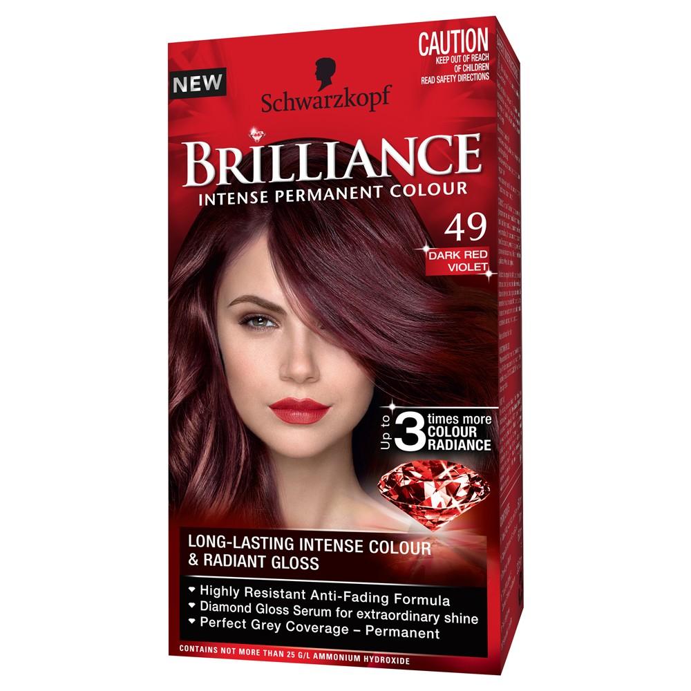 Schwarzkopf Brilliance Hair Colour 49 Dark Red Violet Intense