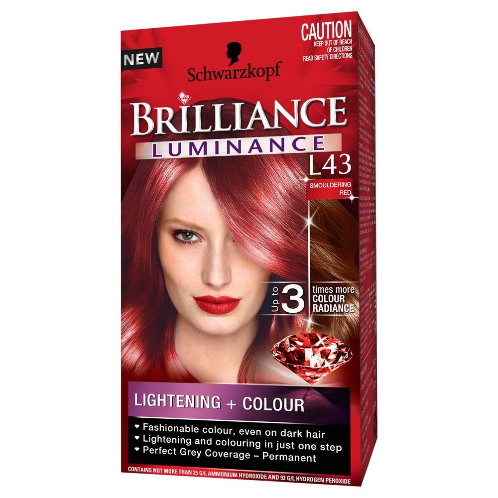 Schwarzkopf Brilliance Hair Colour Luminance L43 Smouldering Red Ebay