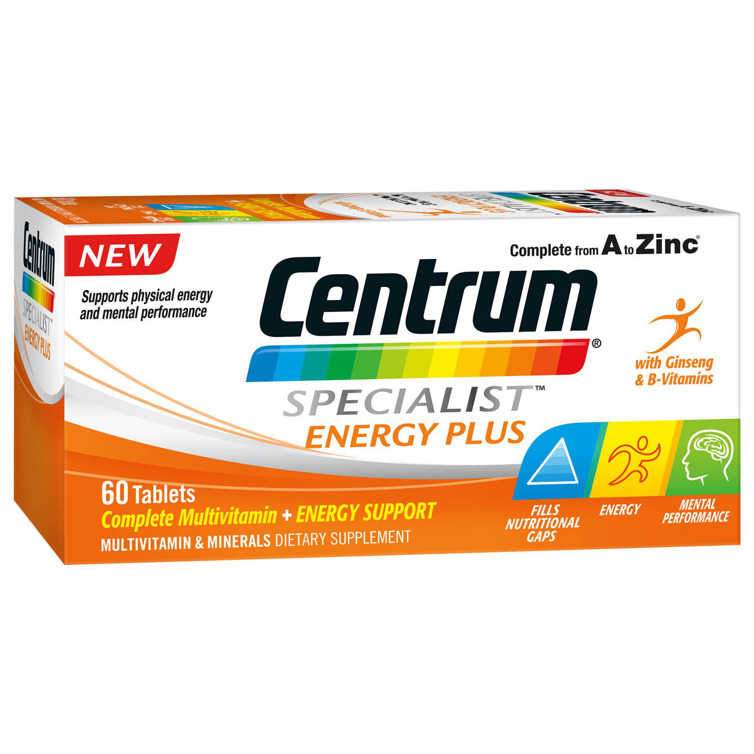 Centrum Specialist Energy Plus Tablets 60 Complete Multivitamin Energy Support Ebay