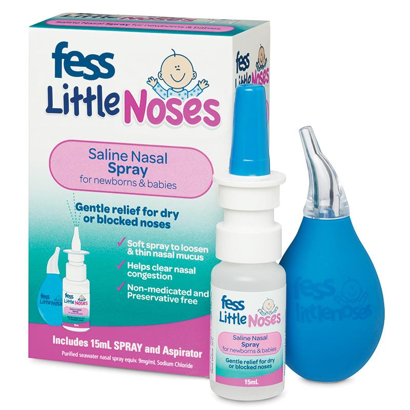 Fess Little Noses Saline Nose Spray Aspirator For Newborns