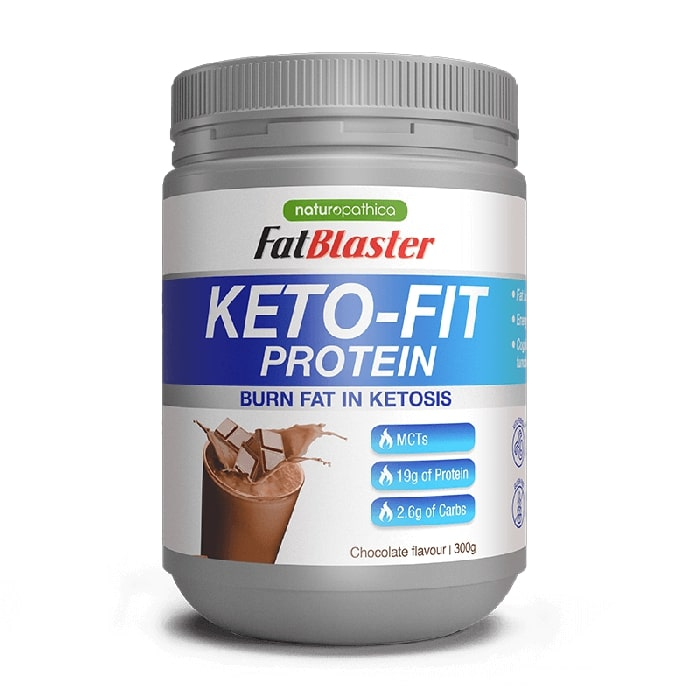 Naturopathica FatBlaster Keto Fit Protein Chocolate Shake 300G Muscle Growth - Nature's Way